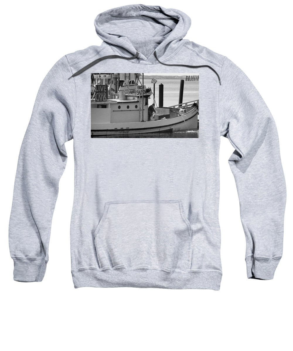 Oregon Sweatshirt featuring the photograph Oregon Crab Salmon by Steve Archbold