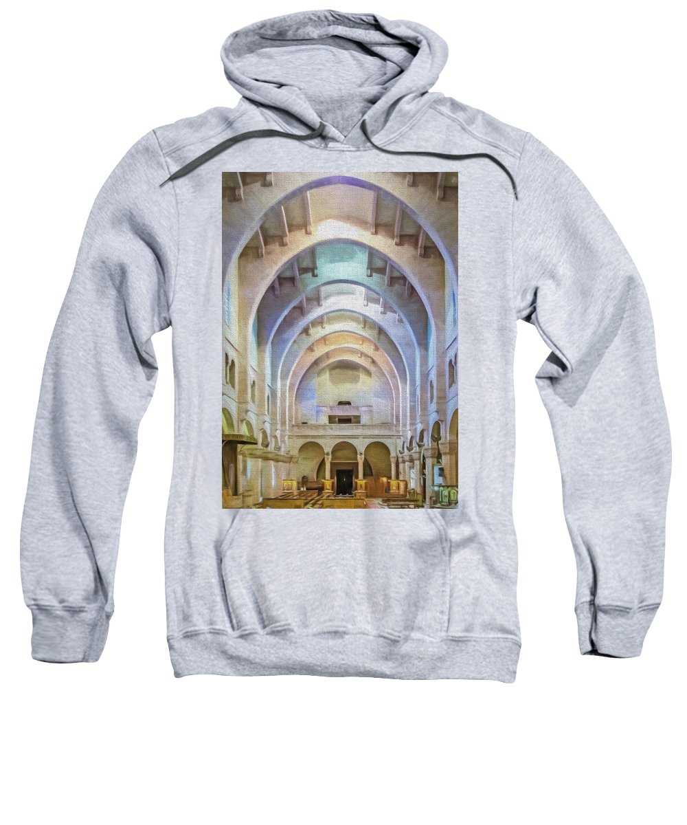 Africa Sweatshirt featuring the photograph Coptic Church by Maria Coulson