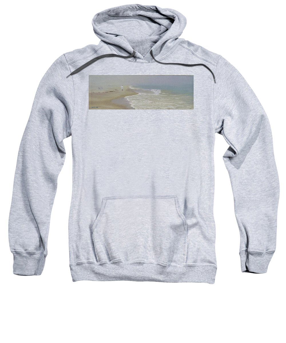 Seascape Sweatshirt featuring the painting Out of the Mist by Lea Novak