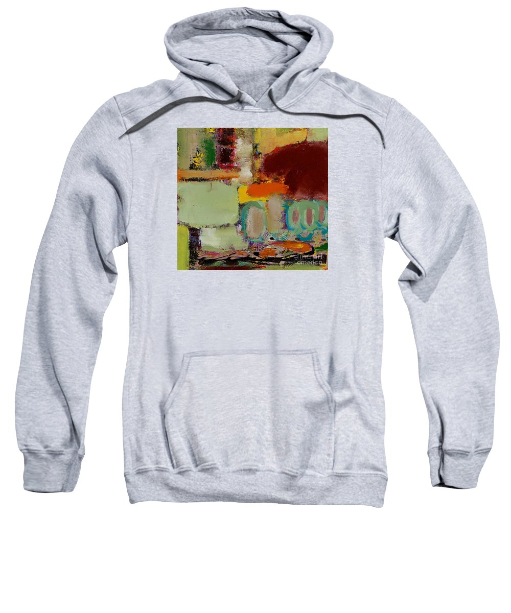 Landscape Sweatshirt featuring the painting Over There by Allan P Friedlander