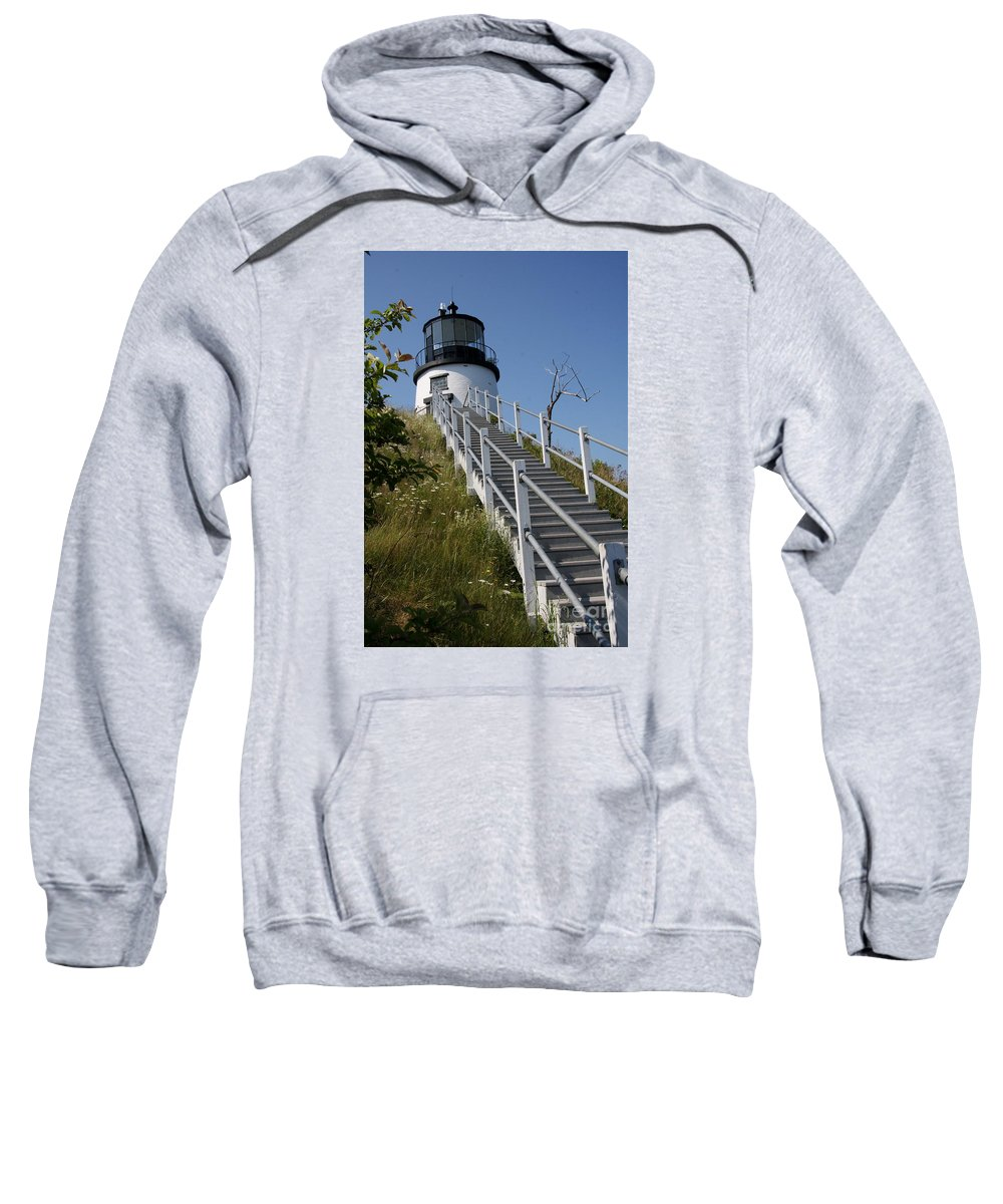 Owls Head Light Sweatshirt featuring the photograph Owls Head Light - Me by Christiane Schulze Art And Photography