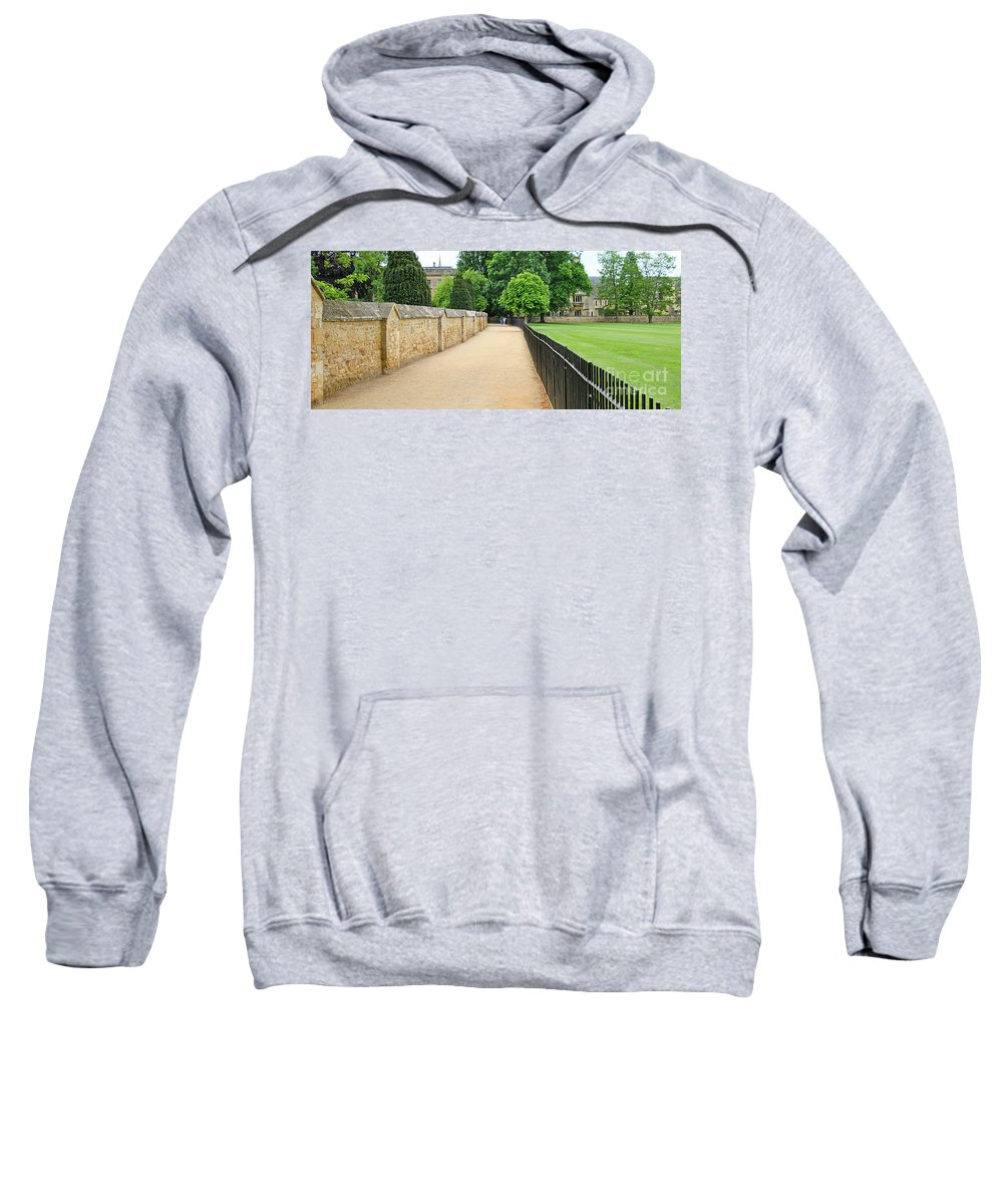 Oxford Sweatshirt featuring the photograph Oxford Walkway 5952 by Jack Schultz