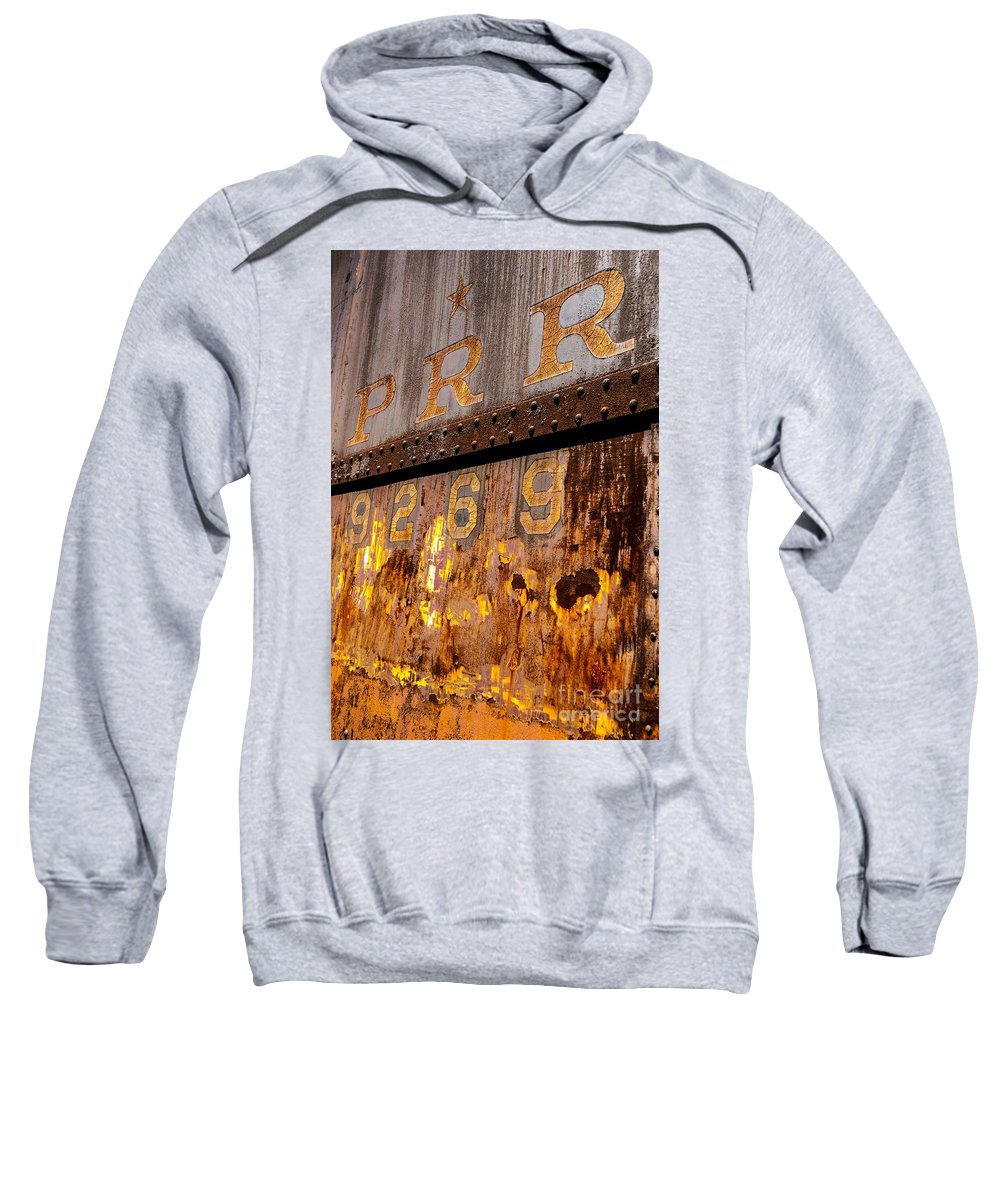 Railroad Sweatshirt featuring the photograph P R R - 9269 by Paul W Faust - Impressions of Light