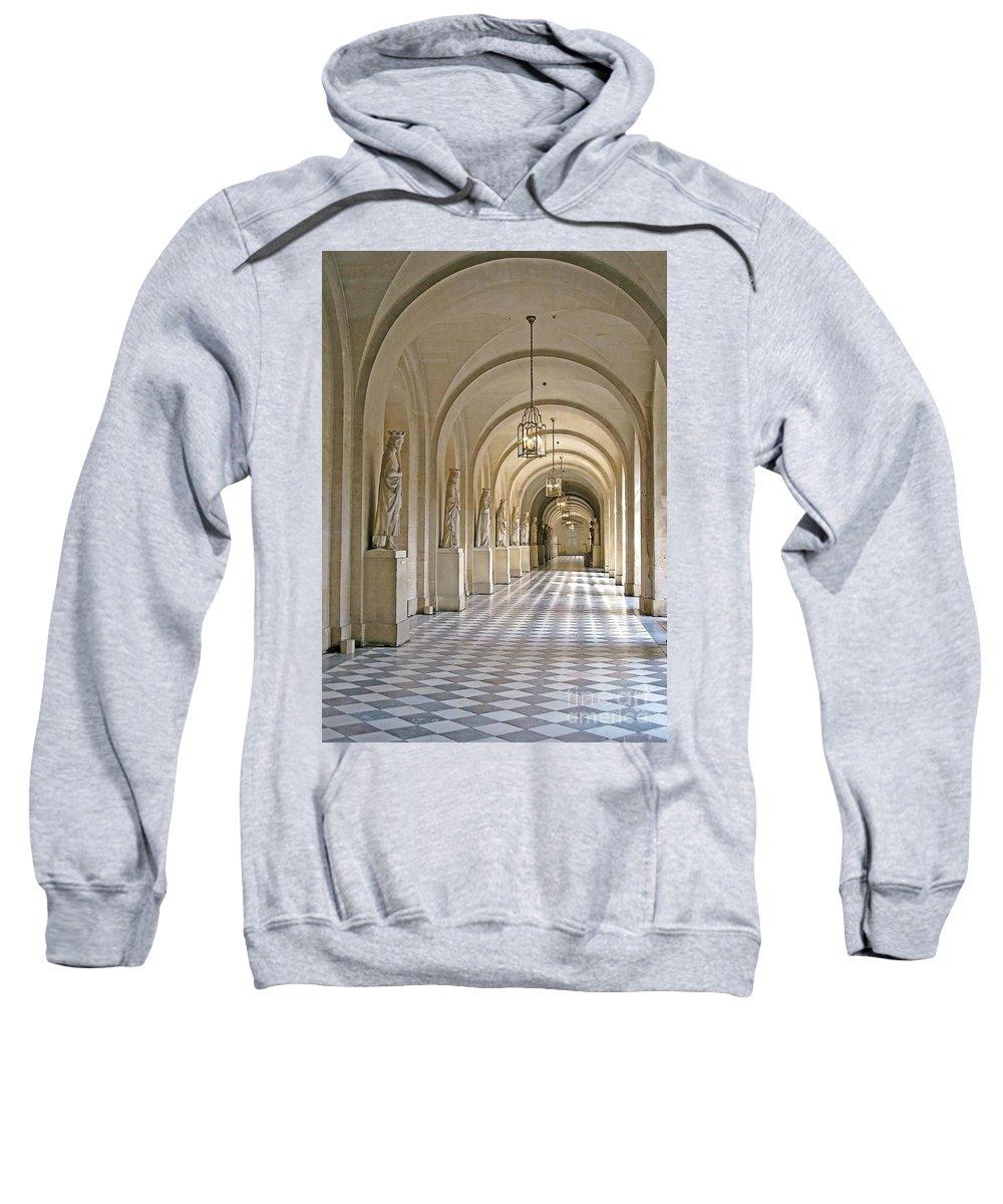 Versailles Sweatshirt featuring the photograph Palace Corridor by Ann Horn