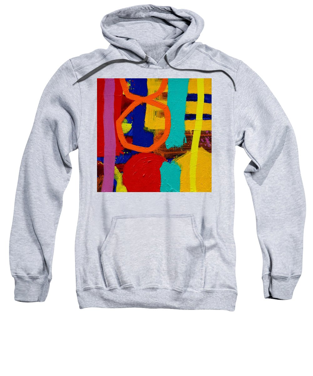 Abstract Sweatshirt featuring the painting Palimpsest X by John Nolan