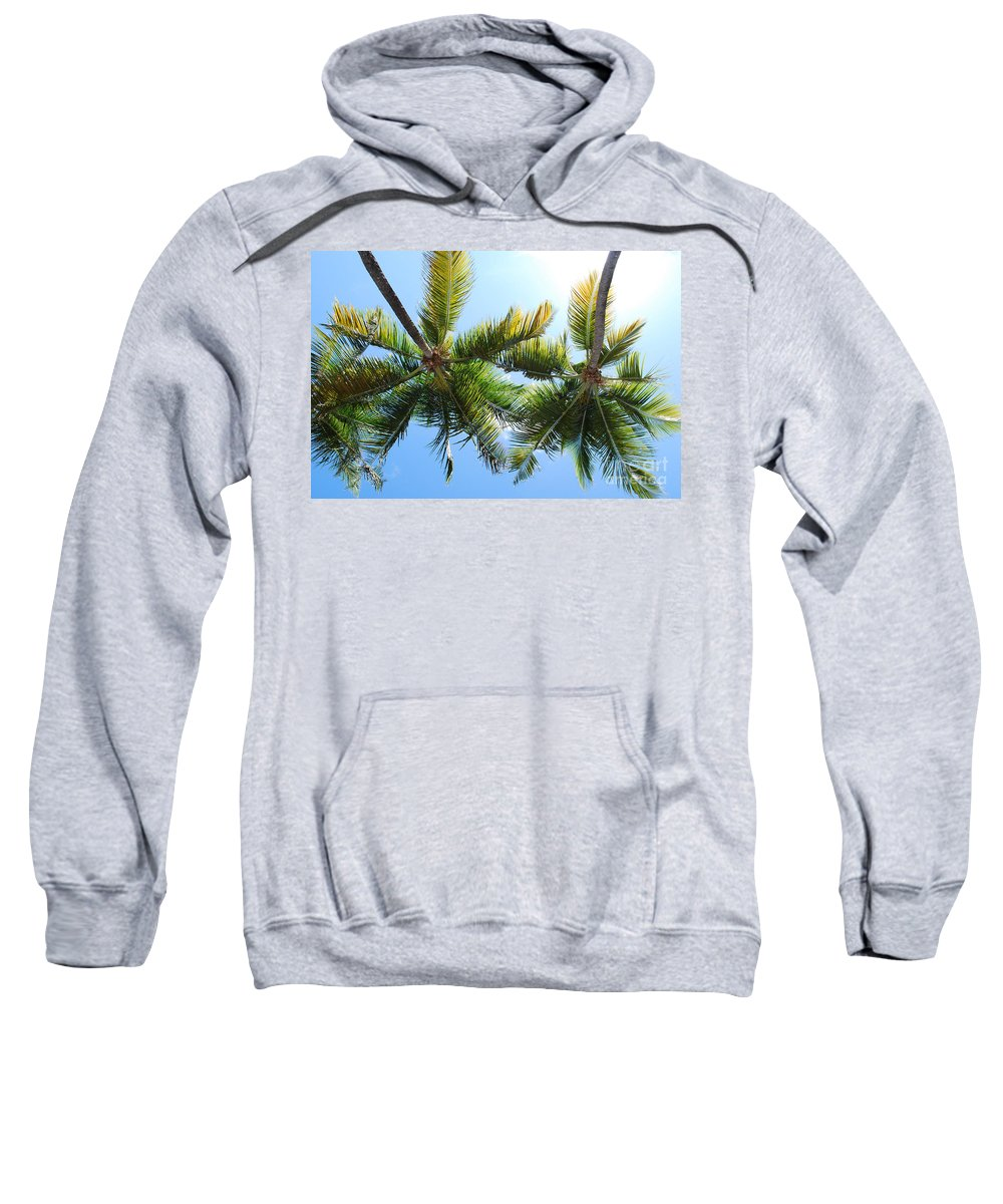 Palms Sweatshirt featuring the photograph Palm Trees In Puerto Rico by DejaVu Designs