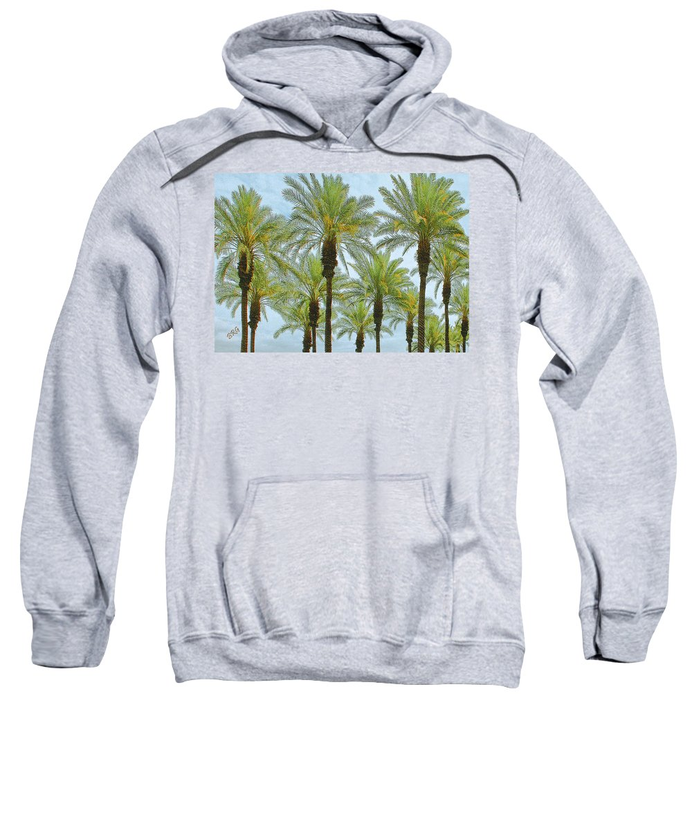 Palm Sweatshirt featuring the photograph Palms by Ben and Raisa Gertsberg
