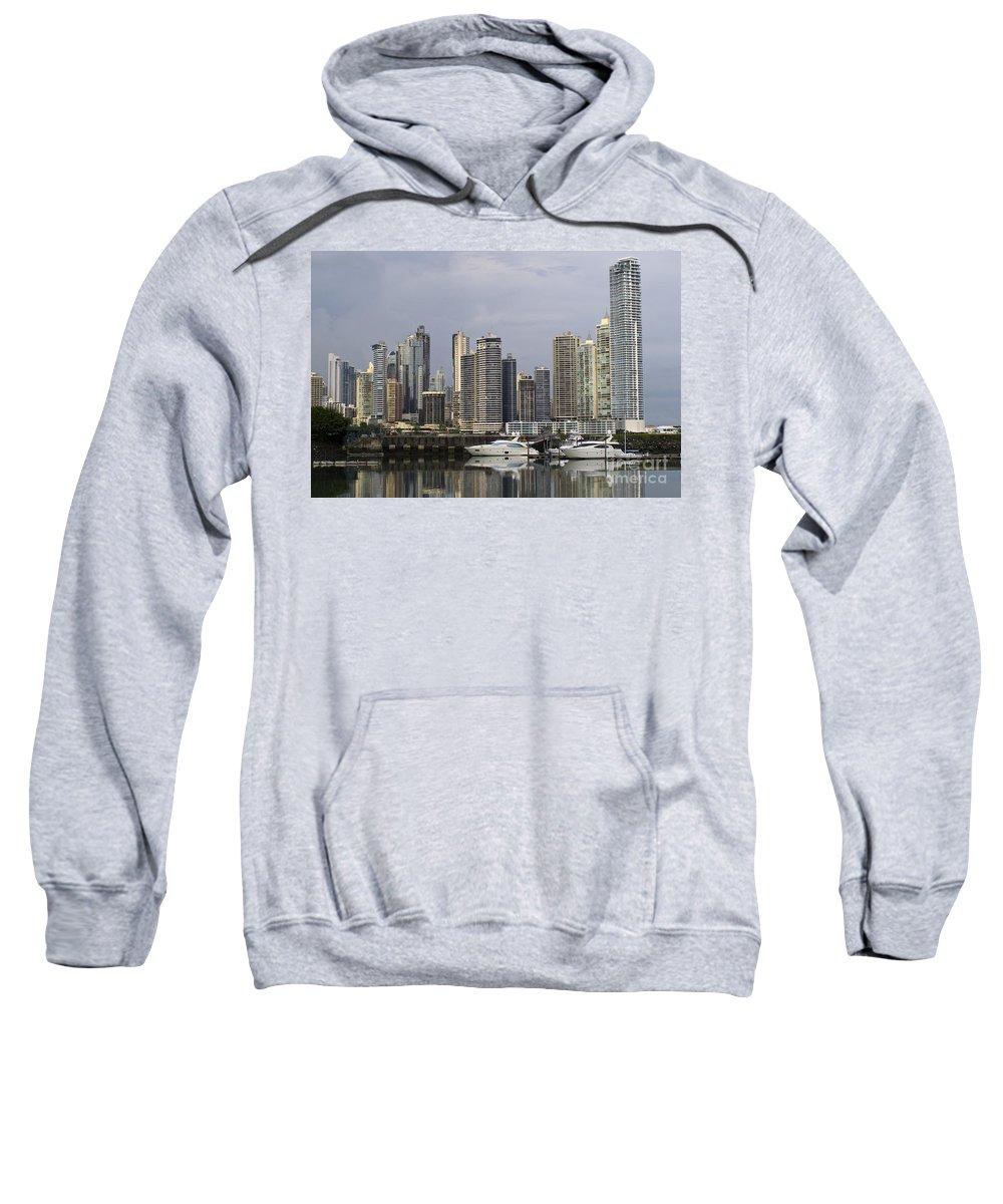 Travel Sweatshirt featuring the photograph Panama City Skyline Panama by Jason O Watson