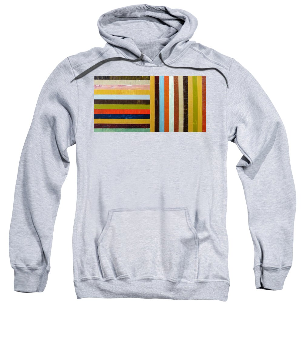 Original Art Sweatshirt featuring the painting Panel Abstract L by Michelle Calkins