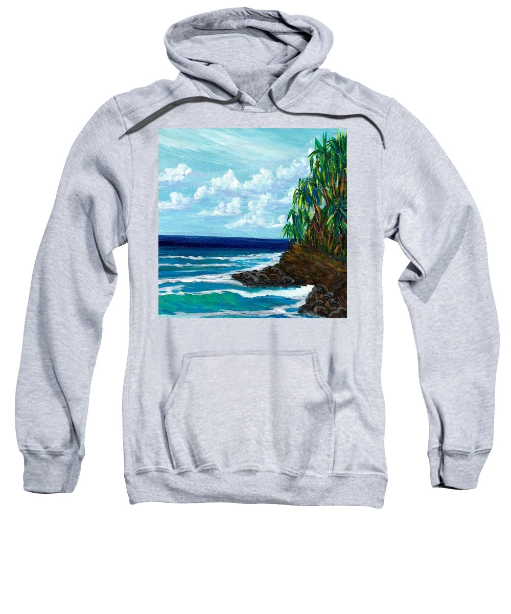 Lau Hala Trees Sweatshirt featuring the painting Papaikou by Suzanne MacAdam