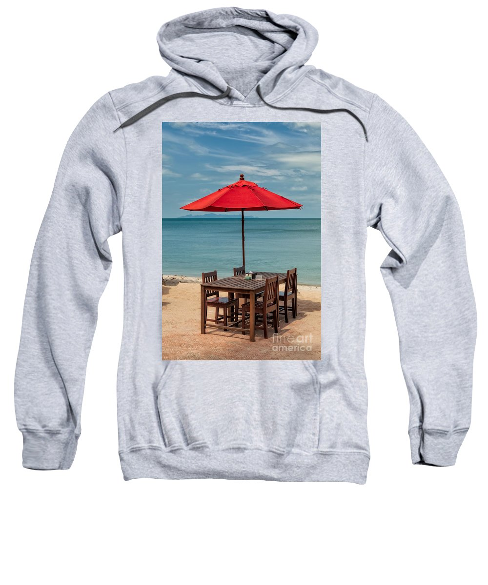 Hdr Sweatshirt featuring the photograph Paradise Dining by Adrian Evans