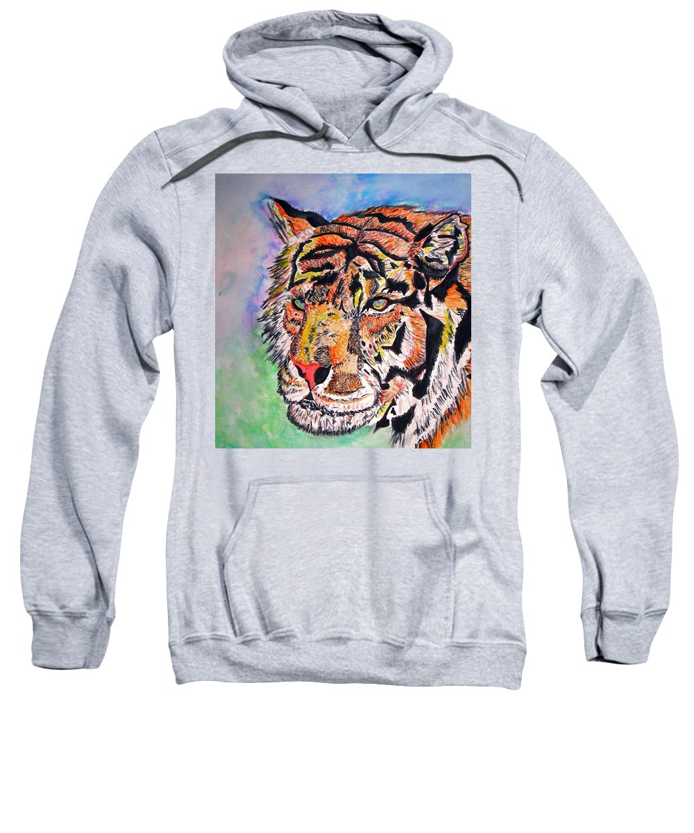 Abstract Sweatshirt featuring the painting Paradise Dream by Crystal Hubbard