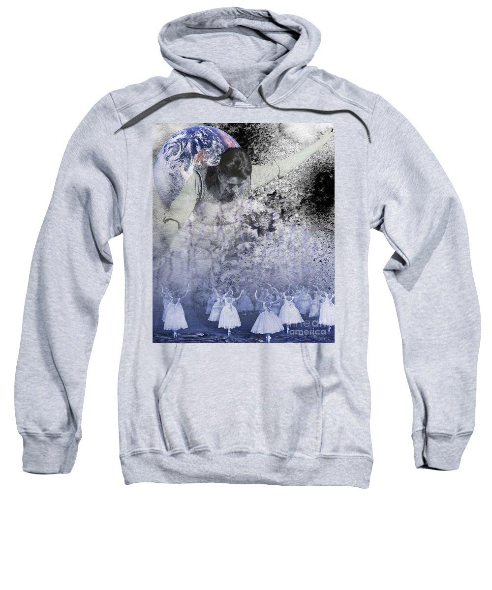 Paranormal Voyeurism Sweatshirt featuring the digital art Paranormal Voyeurism by Desiree Paquette