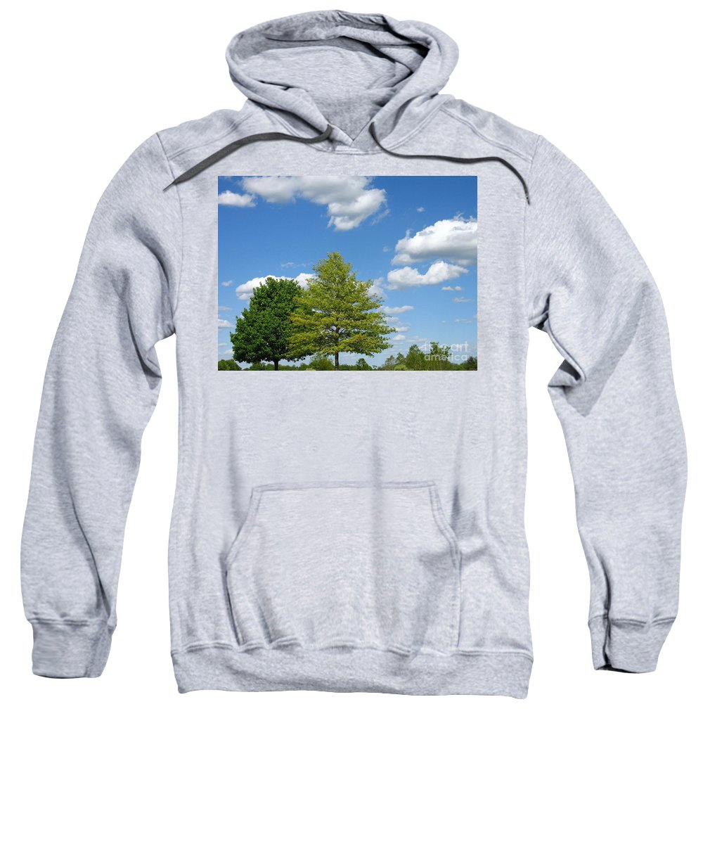 Sky Sweatshirt featuring the photograph Partly Cloudy Day by Ann Horn