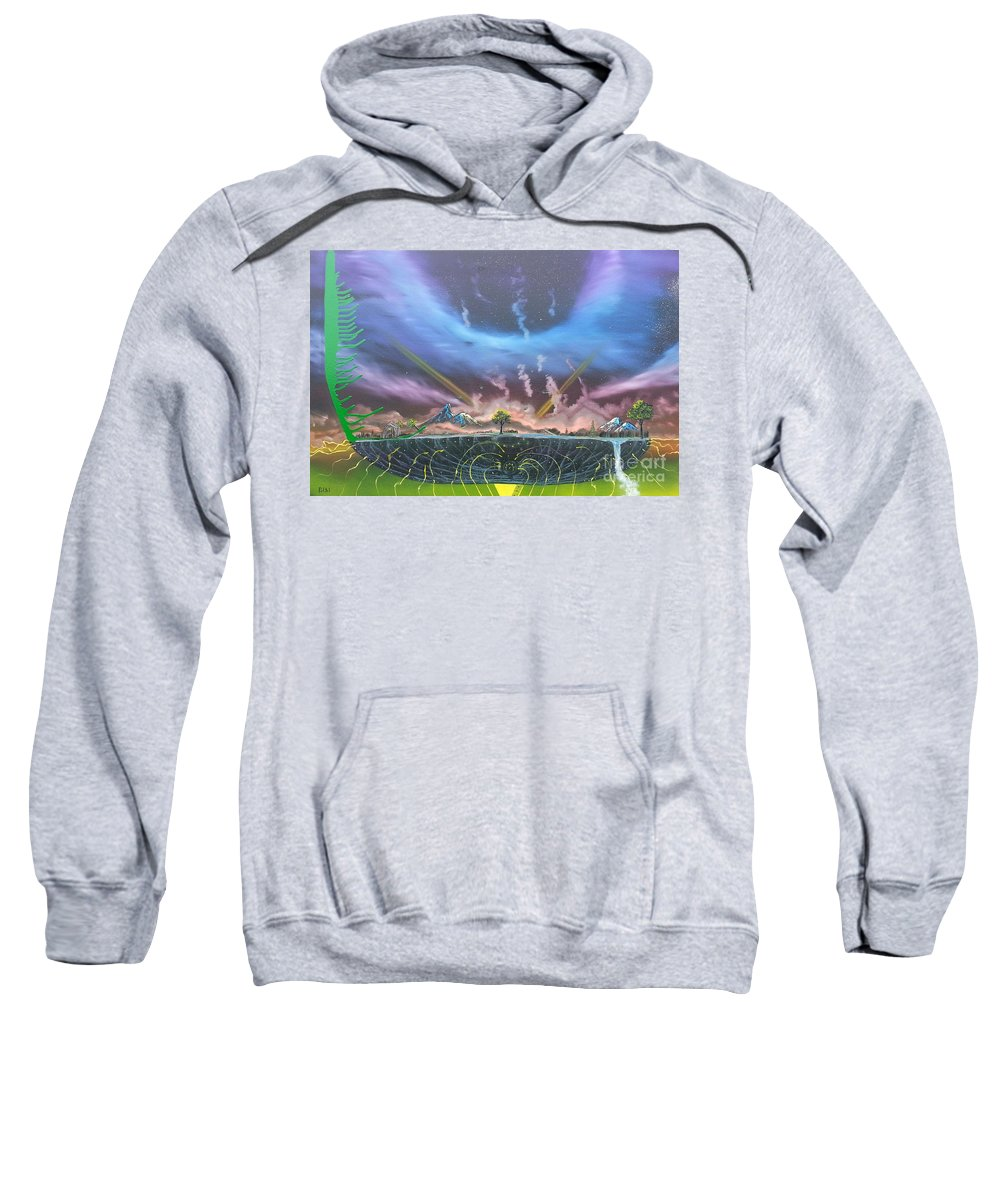Island Sweatshirt featuring the painting Passage by Jody Poehl