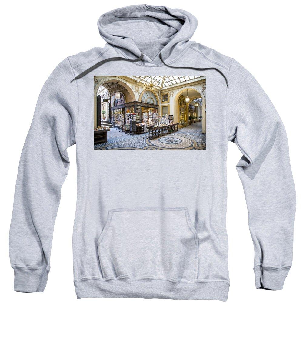 Books Sweatshirt featuring the photograph Passage Vivienne by Brian Jannsen