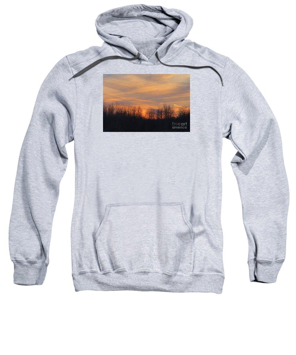 Sunset Sweatshirt featuring the photograph Patchwork Sunset by Kathy DesJardins
