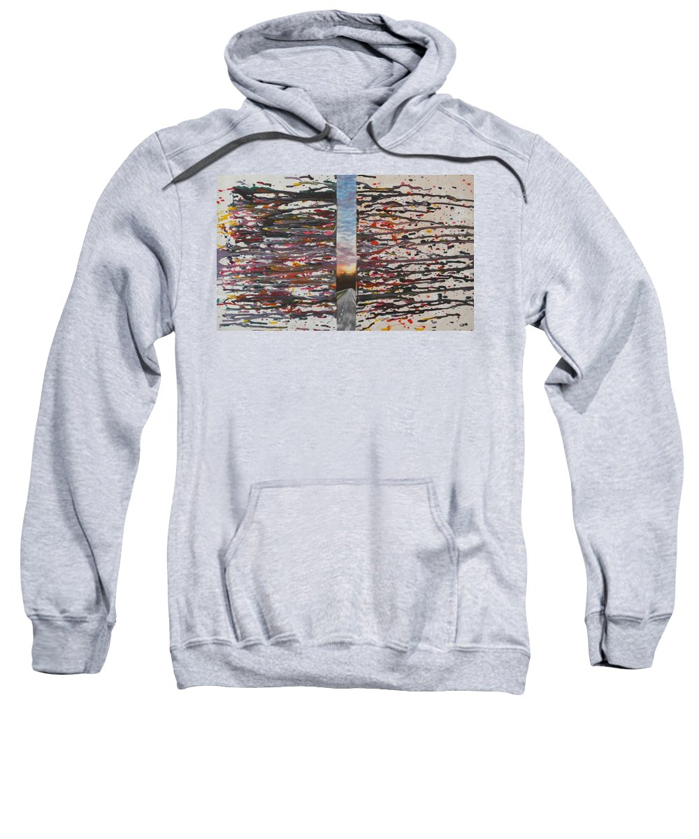Colorful Sweatshirt featuring the painting Pause by Thomasina Durkay