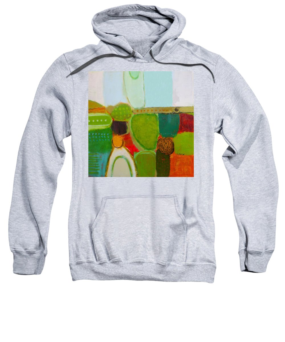 Abstract Sweatshirt featuring the painting Peace And Joy 4 by Habib Ayat