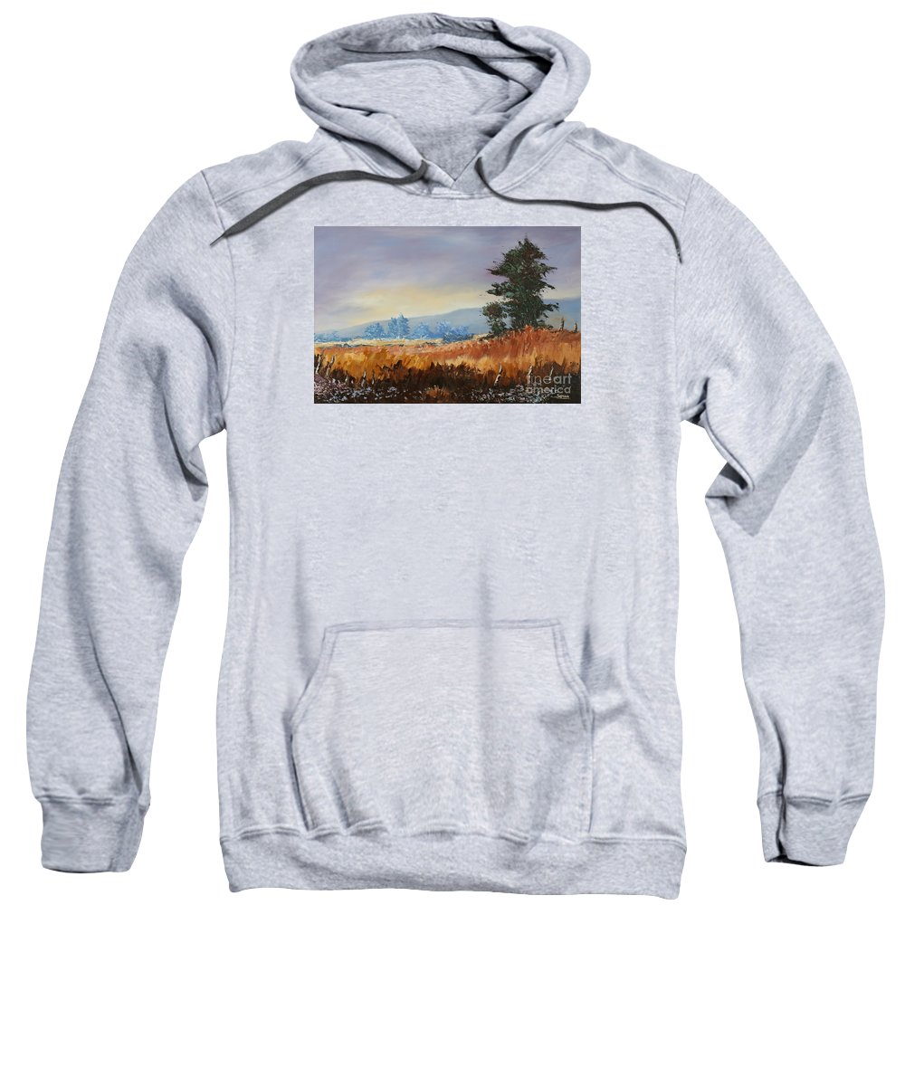 Tree Sweatshirt featuring the painting Peace by Andrew Sanan