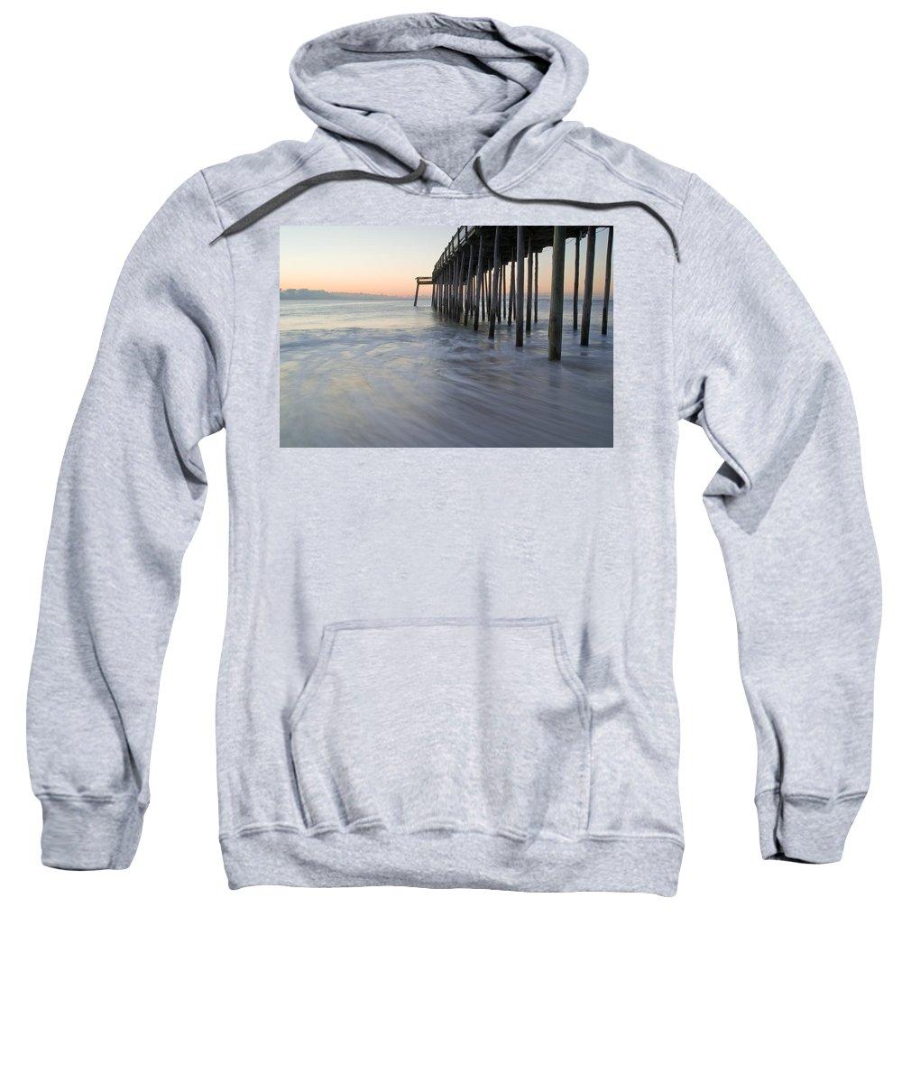 Ocean Sweatshirt featuring the photograph Peaceful Ocean Sunrise by Benjamin Reed