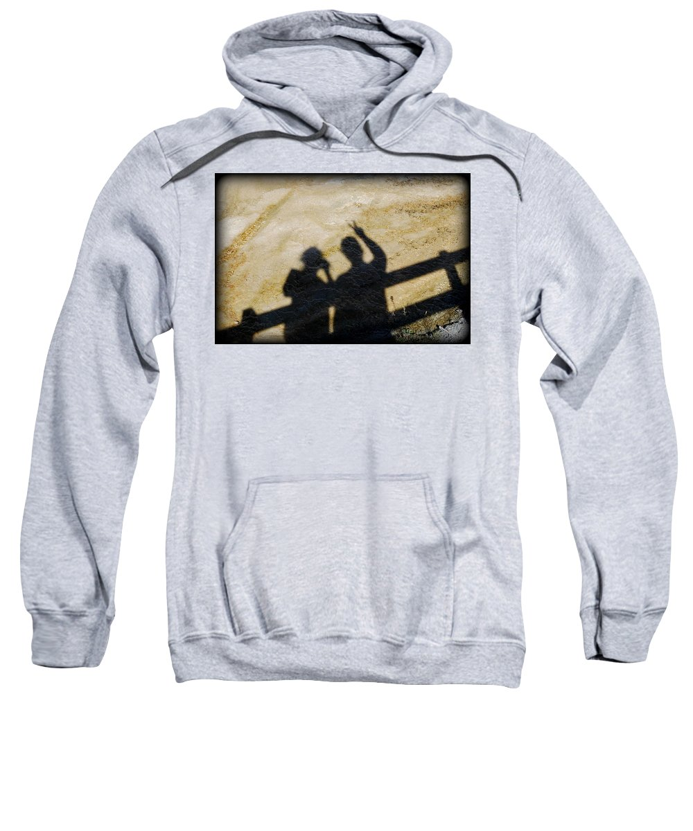 Shadow Sweatshirt featuring the photograph Peaceful People Shadows by Kathy Sampson