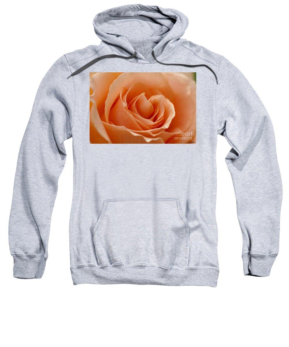 Peach Sweatshirt featuring the photograph Peach by Carol Lynch