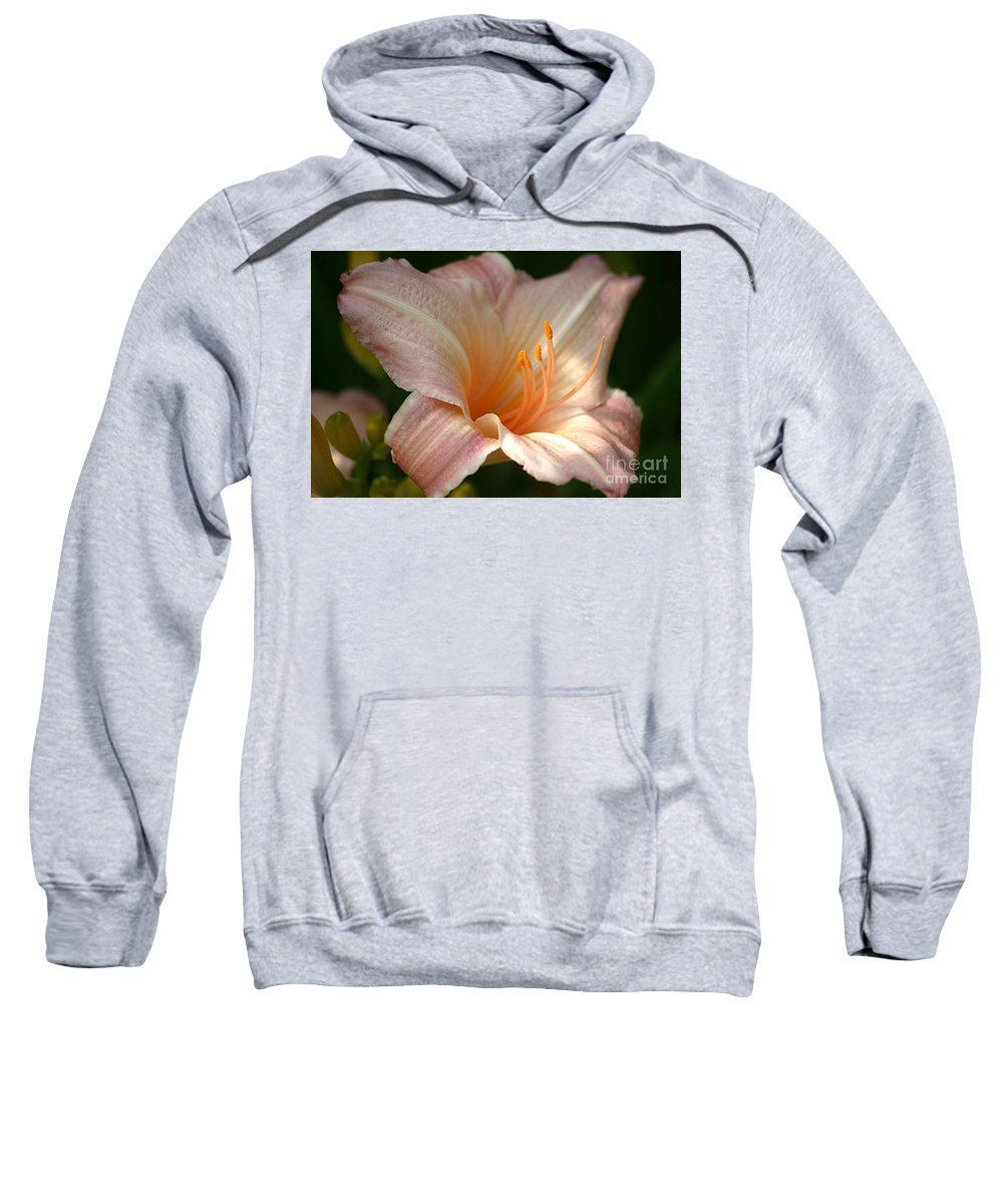 Lily Sweatshirt featuring the photograph Peach Perfection by Living Color Photography Lorraine Lynch