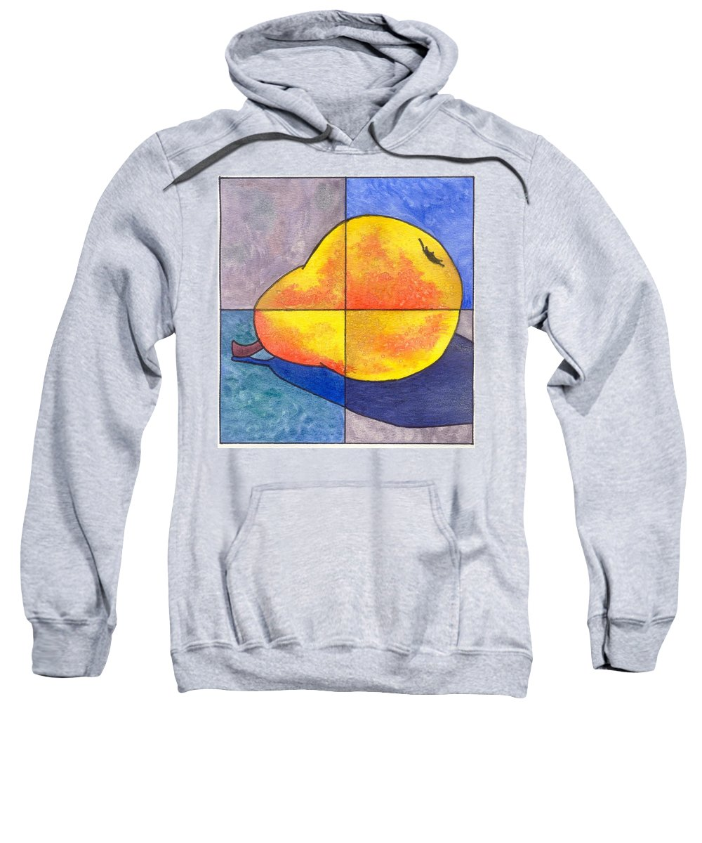 Pear Sweatshirt featuring the painting Pear I by Micah Guenther