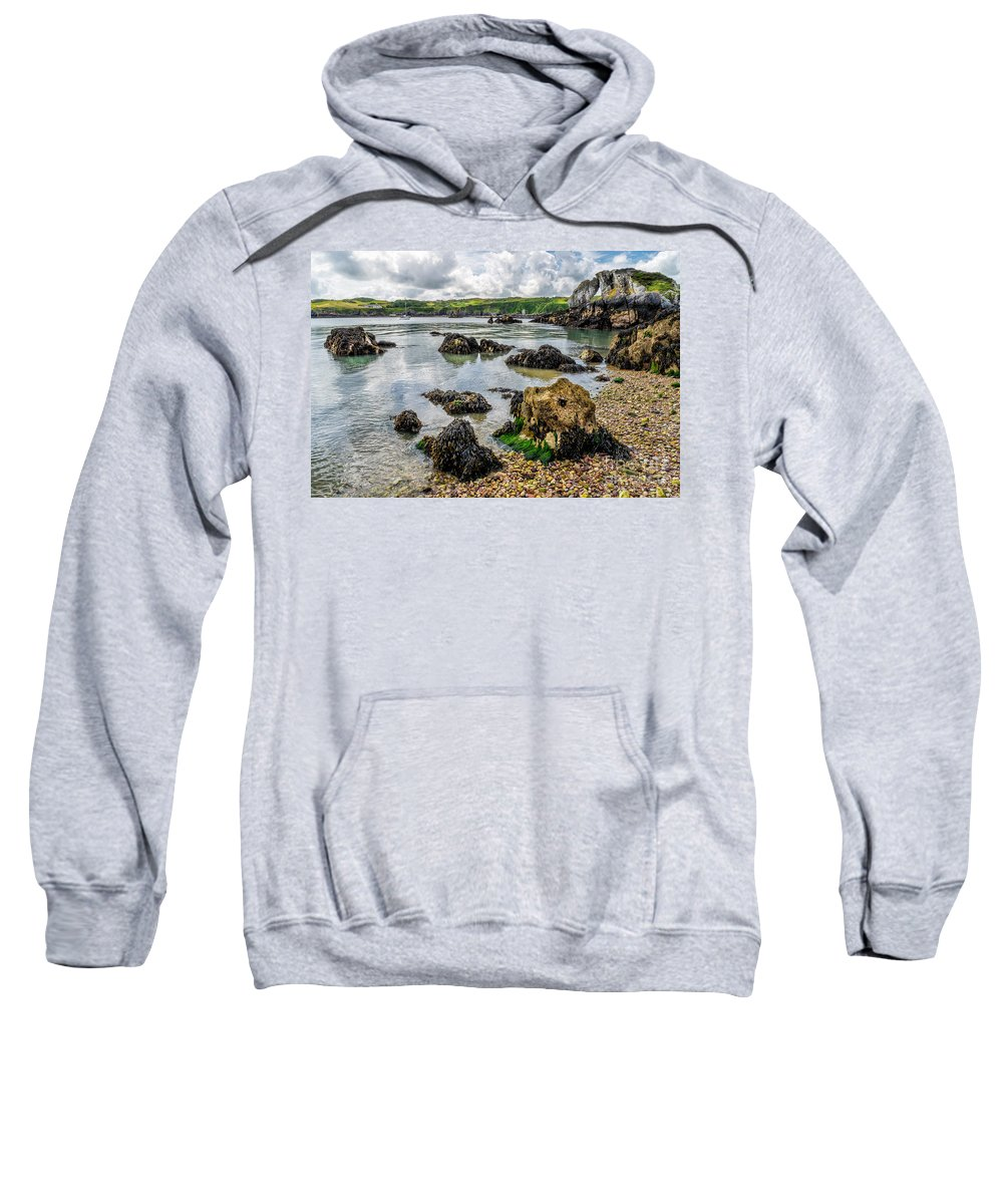Anglesey Sweatshirt featuring the photograph Pebble Bay by Adrian Evans