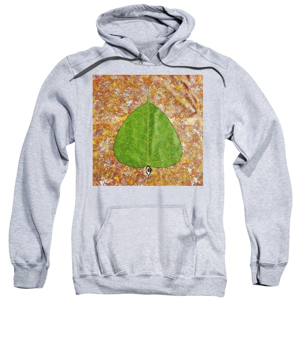 Peepal Sweatshirt featuring the painting Peepal by Sumit Mehndiratta