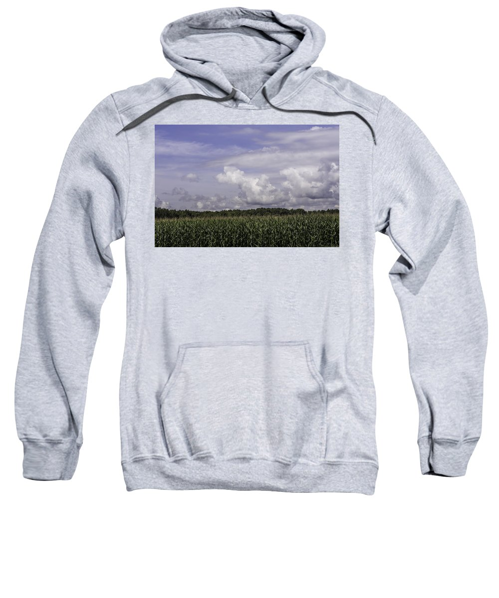 Corn Sweatshirt featuring the photograph Pennsylvania Cornfield by Diana Weir