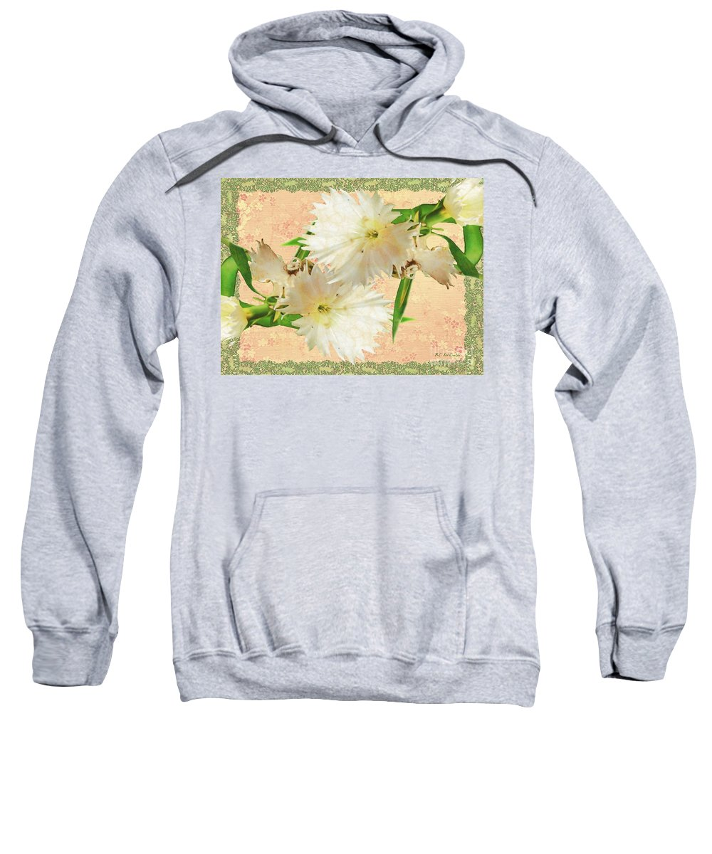 Decoupage Sweatshirt featuring the painting Penny Postcard Cheerful by RC DeWinter