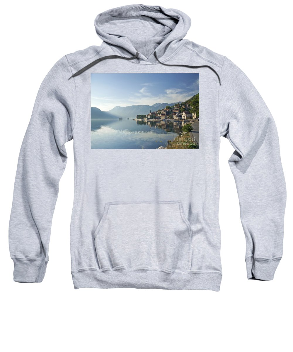Architecture Sweatshirt featuring the photograph Perast Village In The Bay Of Kotor In Montenegro by Jacek Malipan