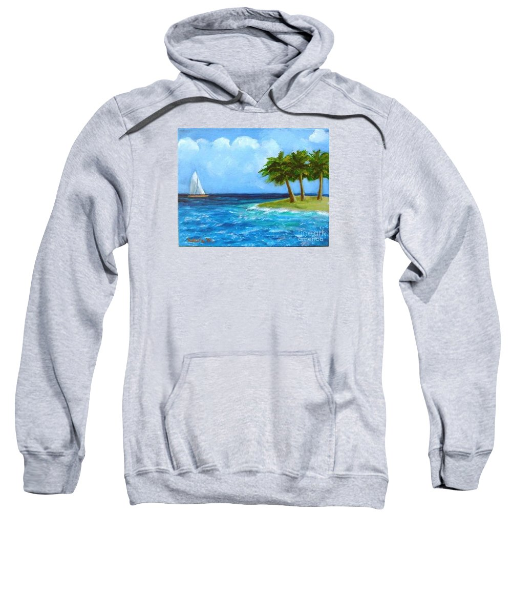 Boats Sweatshirt featuring the painting Perfect Sailing Day by Laurie Morgan