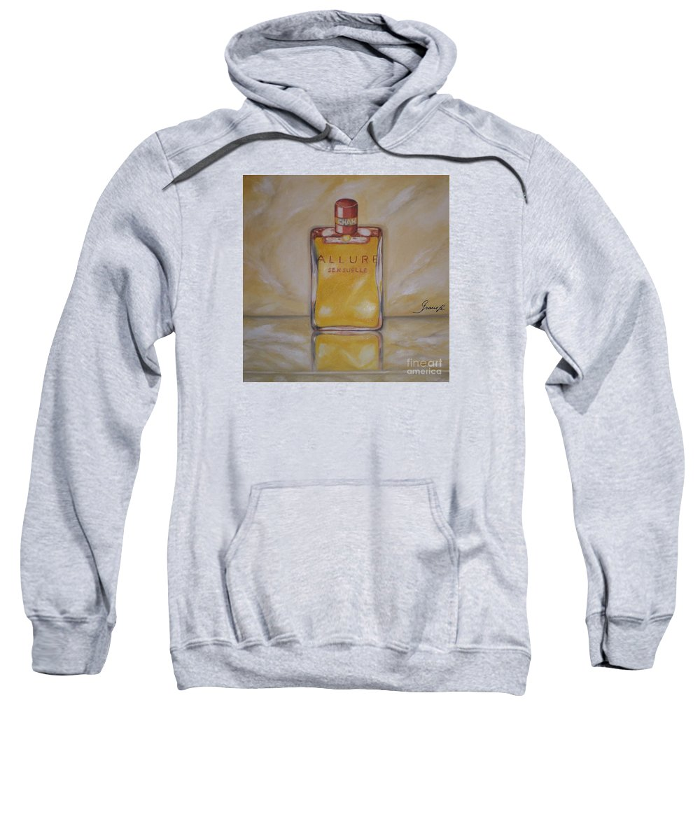 Chanel Sweatshirt featuring the painting Perfume-allure by Graciela Castro