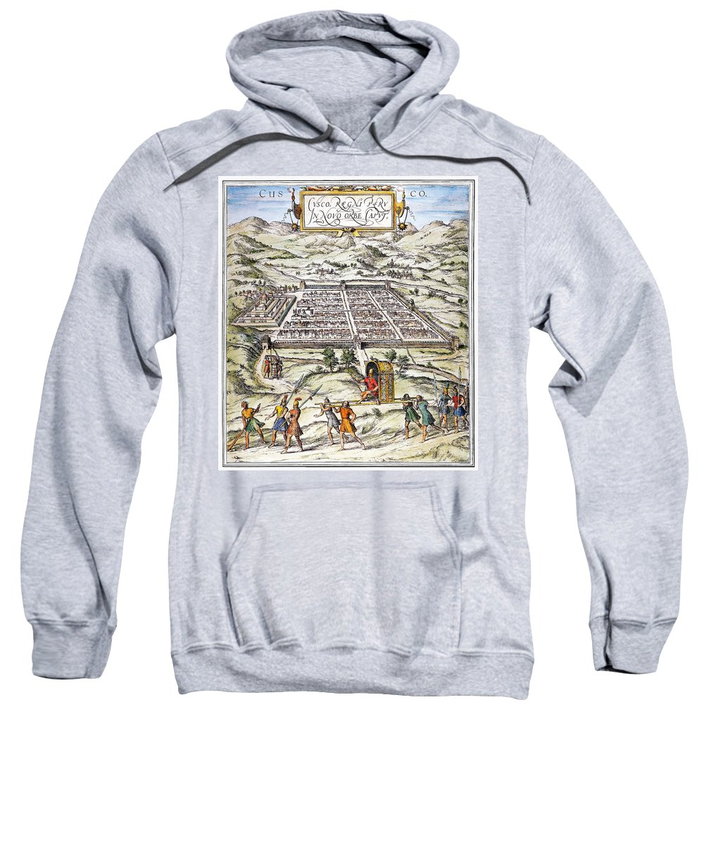 1572 Sweatshirt featuring the photograph Peru: Cuzco, 1572 by Granger
