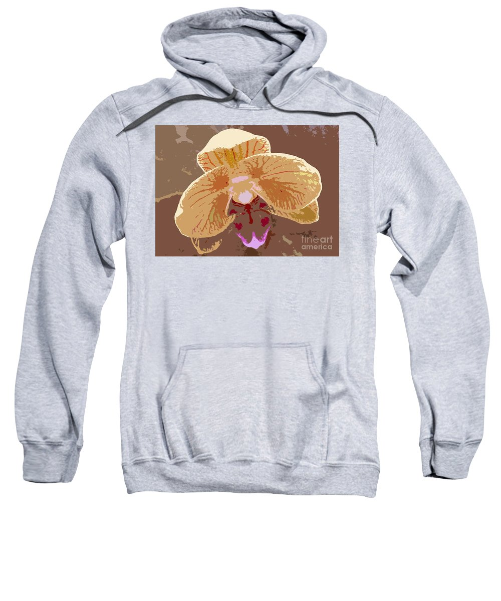 Orchid Sweatshirt featuring the photograph Phalaenopsis Synopsis by Barbie Corbett-Newmin