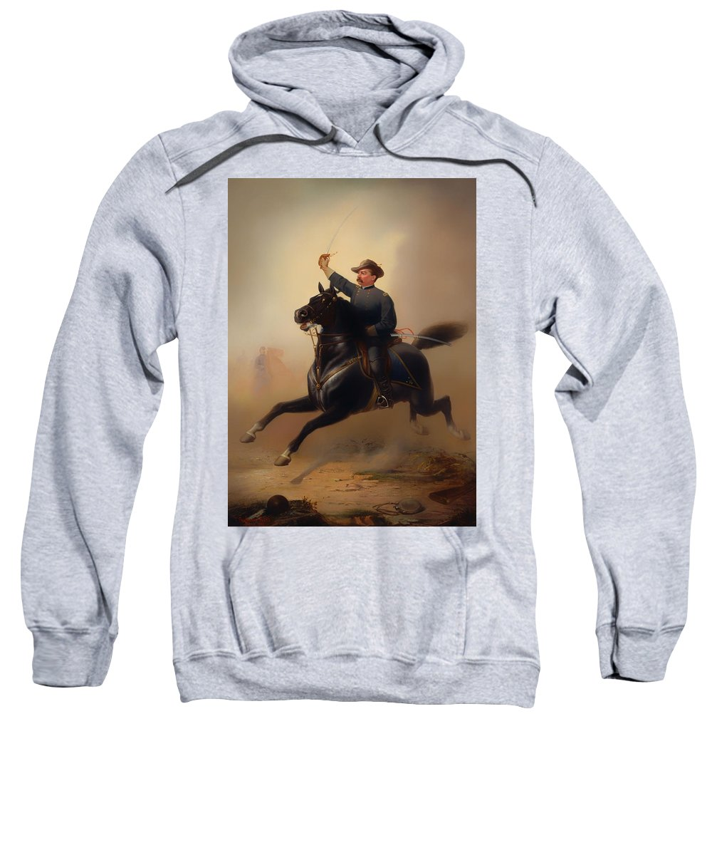 Painting Sweatshirt featuring the painting Philip Henry Sheridan by Mountain Dreams