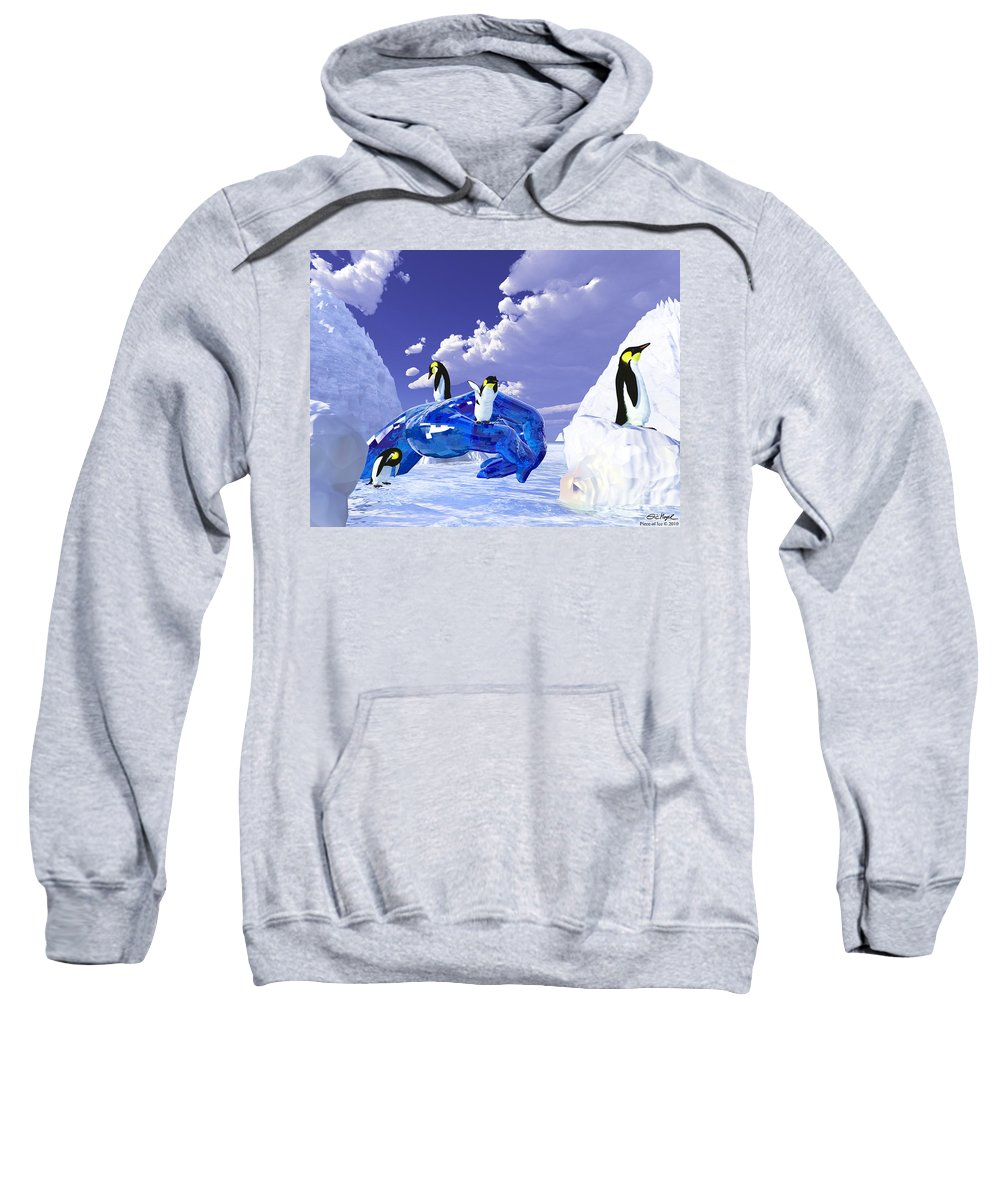 Nature Sweatshirt featuring the digital art Piece Of Ice by Eric Nagel