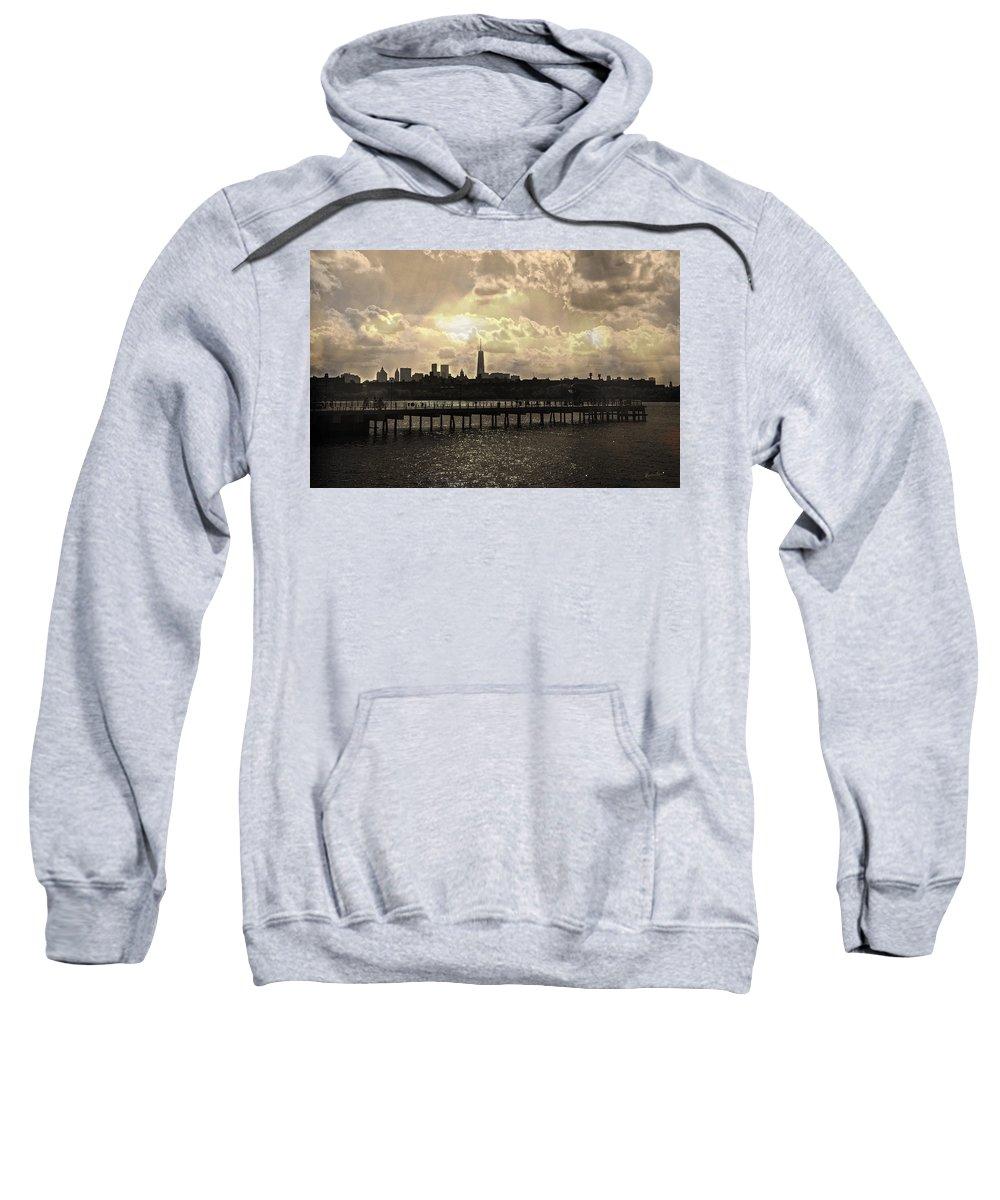 Manhattan Sweatshirt featuring the photograph Pier View 1 by Madeline Ellis