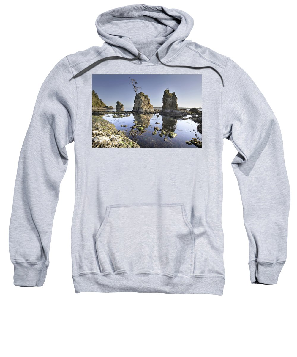 Pig Sweatshirt featuring the photograph Pig And Sows Inlet In Garibaldi Oregon At Low Tide by Jit Lim