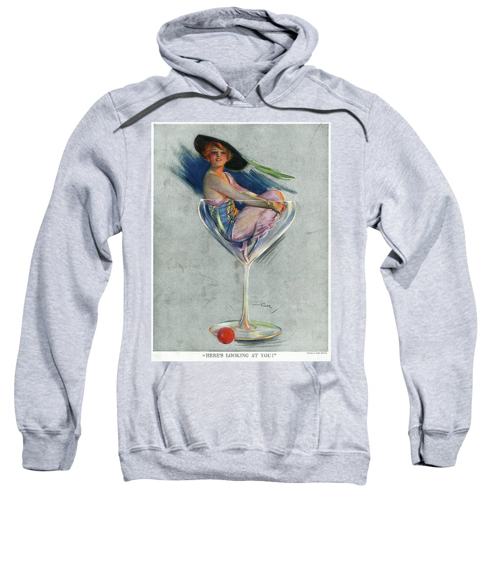 1914 Sweatshirt featuring the drawing Pin Up, 1914 by Granger