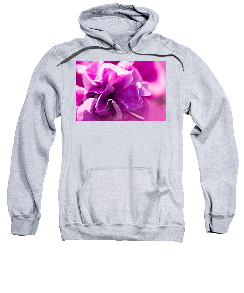 Abstract Sweatshirt featuring the photograph Pink - Featured 3 by Alexander Senin