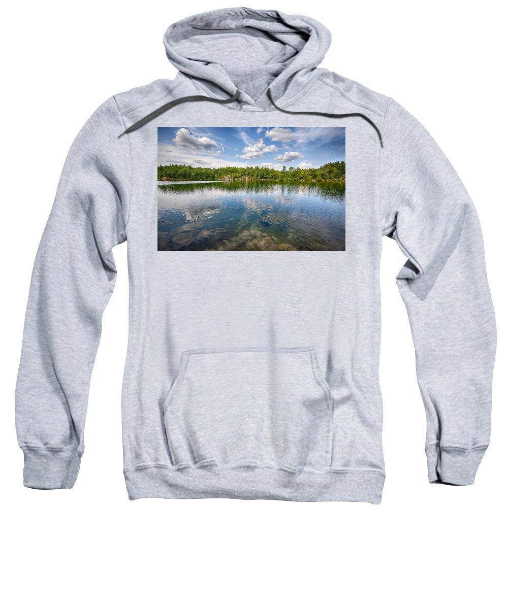 Lake Sweatshirt featuring the photograph Pink Lake by Eunice Gibb