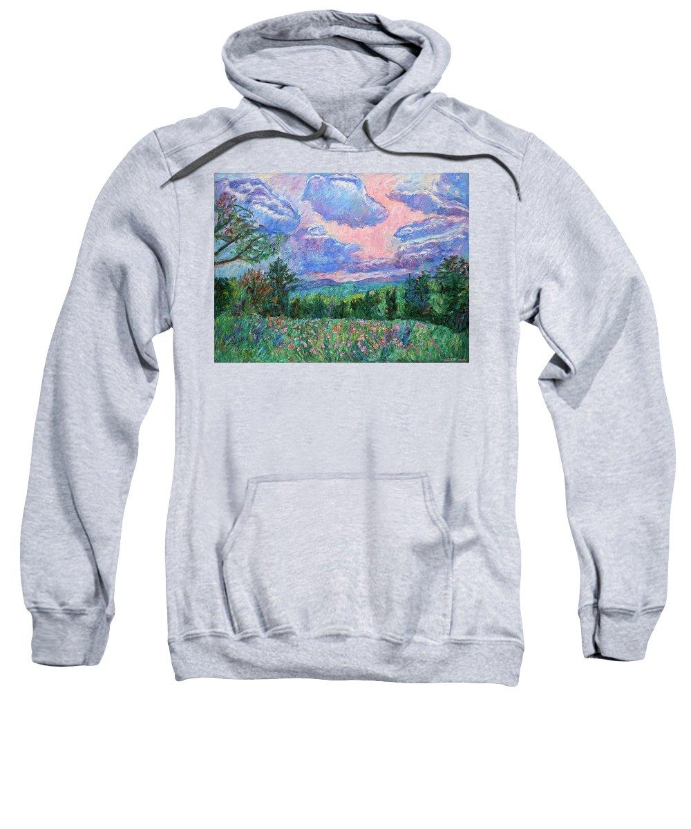 Kendall Kessler Sweatshirt featuring the painting Pink Light by Kendall Kessler