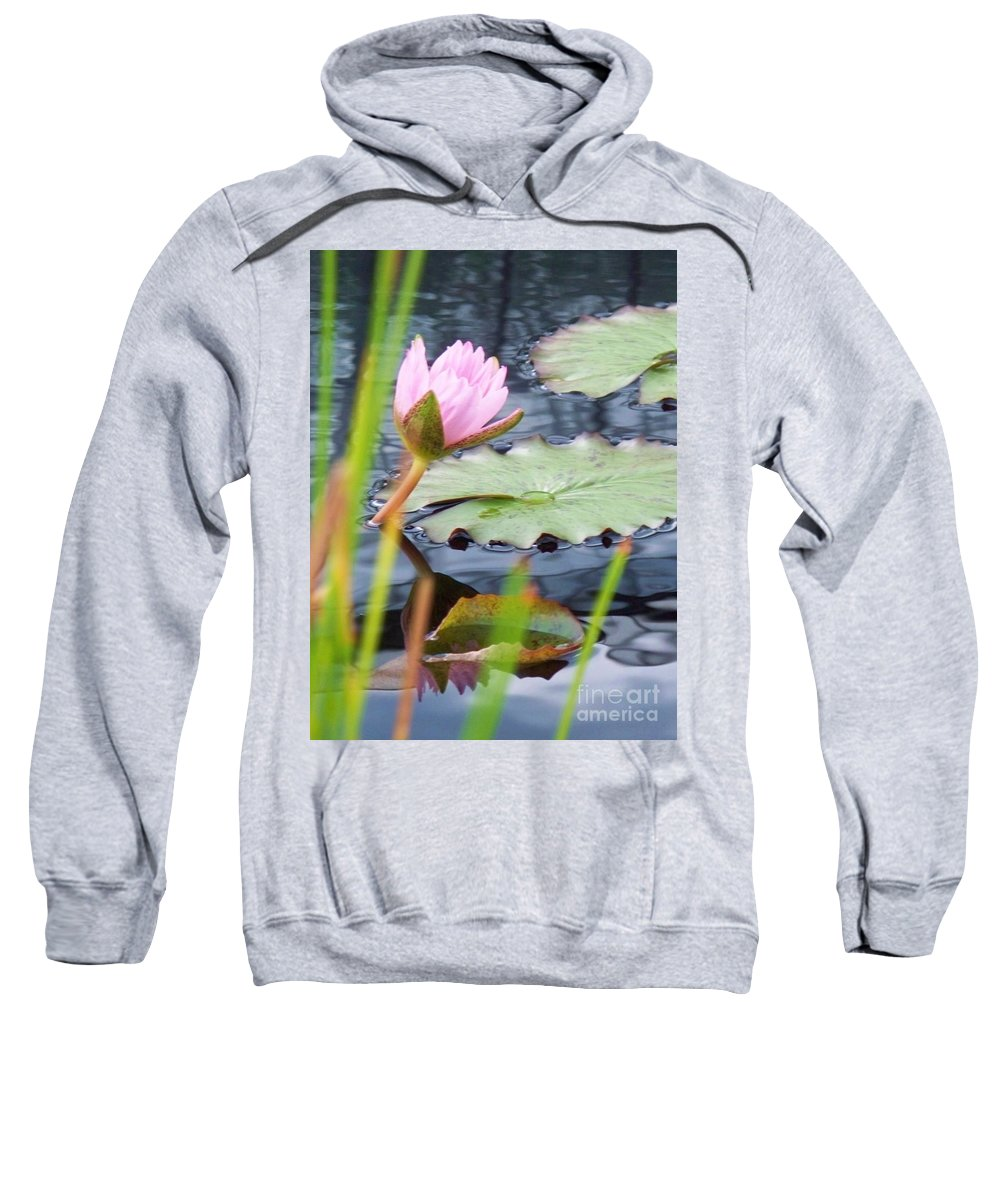 Photograph Sweatshirt featuring the photograph Pink Lily And Pads by Eric Schiabor
