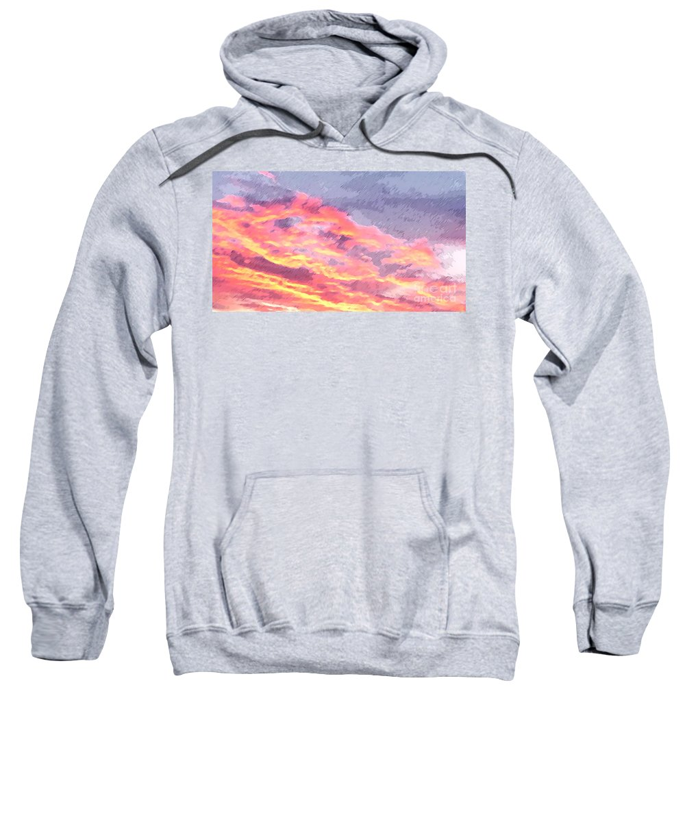 Morning Sweatshirt featuring the photograph Pink Promise by Flamingo Graphix John Ellis