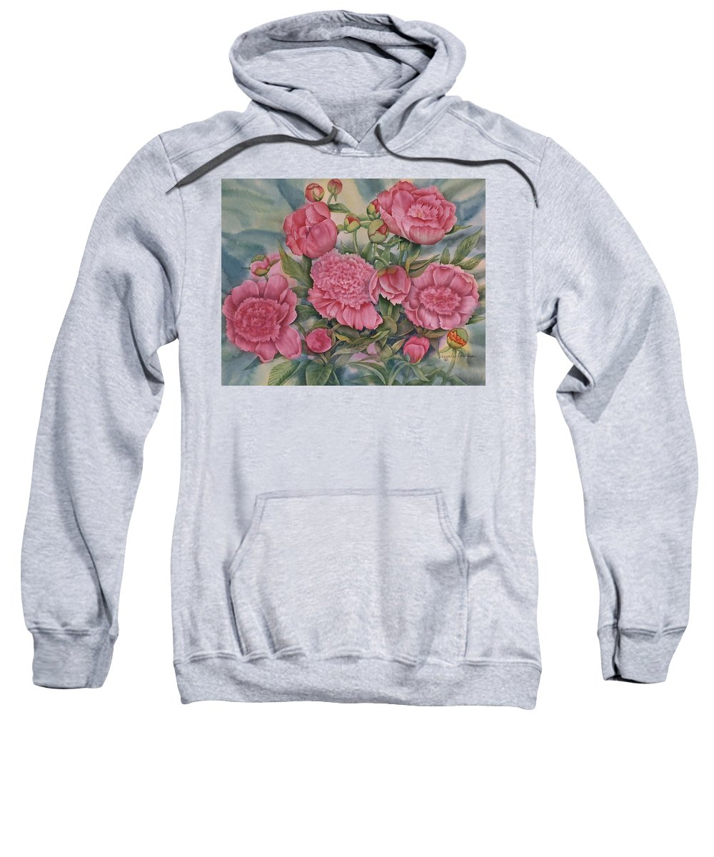 Pink Splendour Sweatshirt featuring the painting Pink Splendor by Heather Gallup