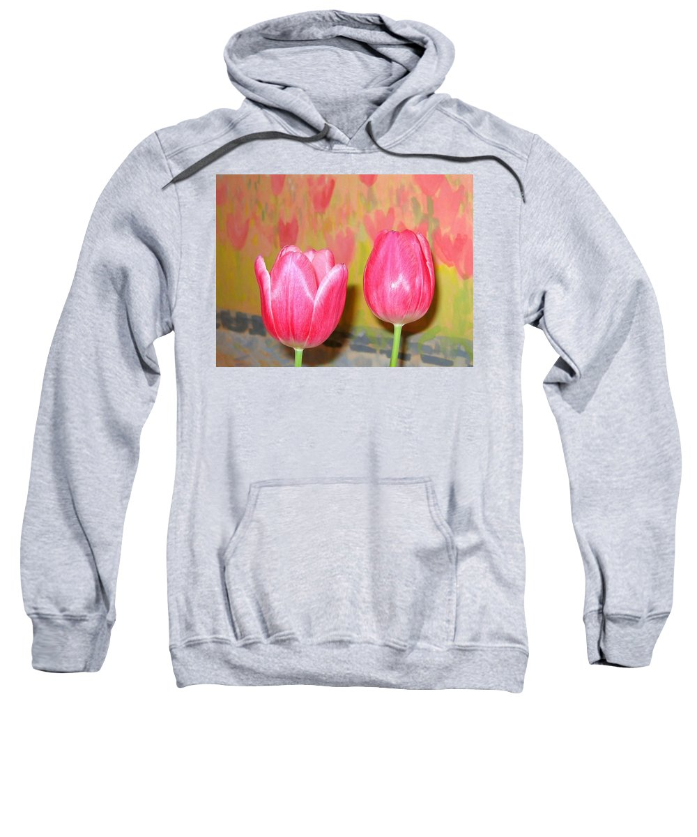 Pink Tulips Sweatshirt featuring the photograph Pink Tulips by Will Borden
